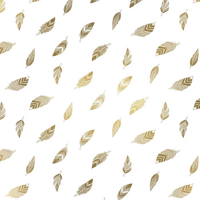 Motifs nature contemporains (plumes, feuilles...) - Laura Frère illustratrice