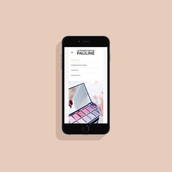 Création site internet maquilleuse Pauline Rougeot - Laura Frère graphiste