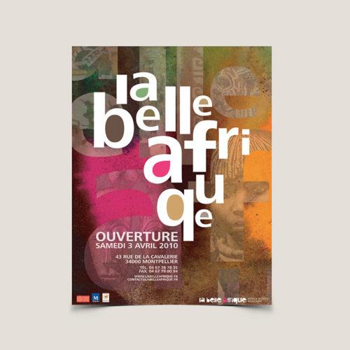 Identité visuelle musée d'arts La Belle Afrique - Laura Frère graphiste