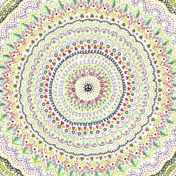 Mandalas à la main, illustrations traditionnelles - Laura Frère, graphiste