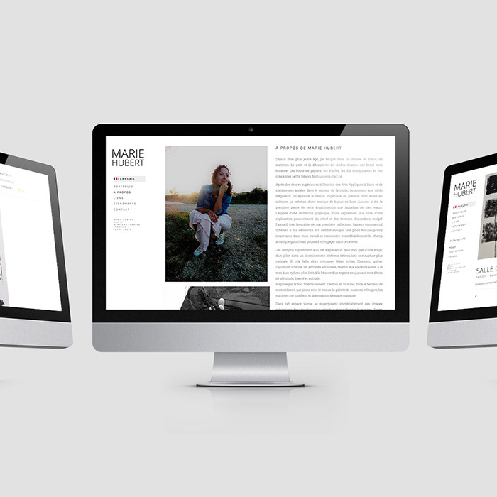 Portfolio artiste plasticienne Marie Hubert - Laura Frère webdesigner