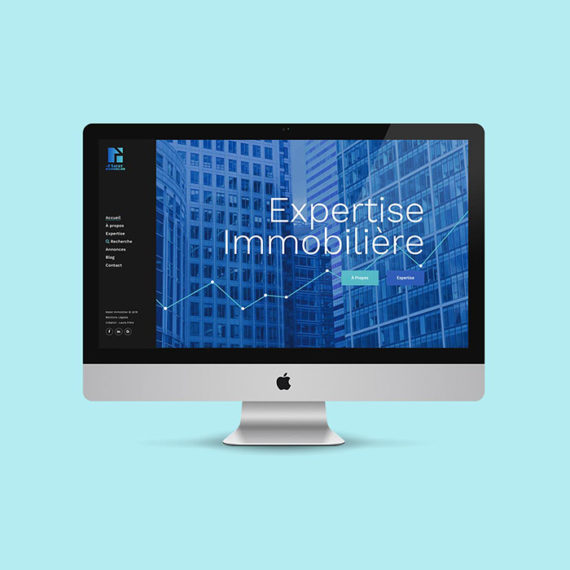 Site internet agence immobilière Matet - LauraFrère graphiste webdesigner