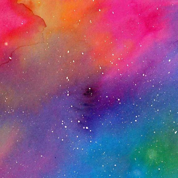 Peintures abstraites sur le thème du ciel - Laura Frère illustratrice freelance